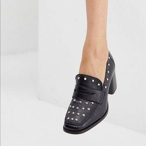 ASOS DESIGN Tender leather premium studded loafers